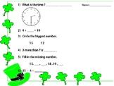 St. Patrick Day Mental Math
