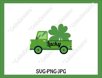 St. Patrick's  Day, SVG, PNG, JPG, Truck art clip, Personal & Commercial us
