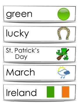 St. Patrick Day Words