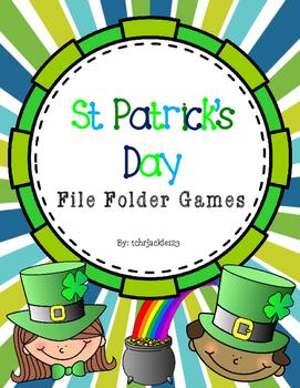 St. Patrick File Folder Games