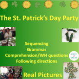 St. Patrick Following Directions, Reading Comprehension & Sequencing - Real Pics