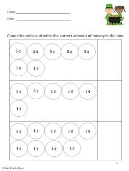St. Patrick Math Worksheets