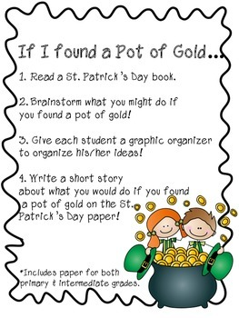 St. Patrick Pot of Gold Writing
