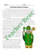 St. Patrick Reading Passage with Comprehension Questions