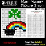 St Patrick Shamrock Rainbow – Math Mystery Picture Graph