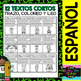 St. Patrick - Trace, Color and Read (Spanish set - 12 Texts)