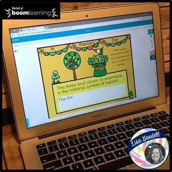 St. Patrick Typing Boom Cards NO PREP INTERNET ACTIVITIES