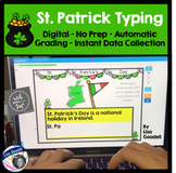 St. Patrick Typing Center  NO PREP INTERNET ACTIVITIES Boom Cards