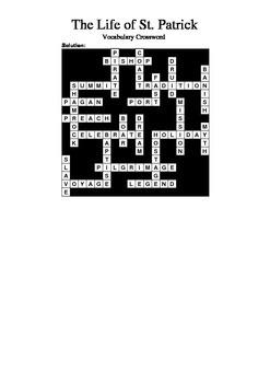 St. Patrick - Vocabulary Crossword