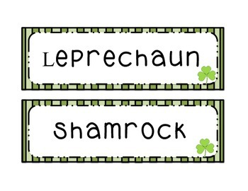 St. Patrick Word Wall