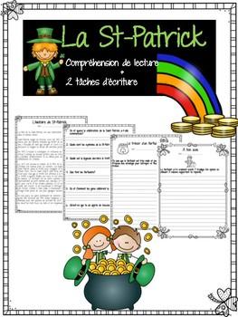 St-Patrick compréhension de lecture + écriture/ St-Patrick FRENCH