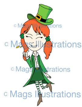 Clip art, St. Patrick day clip art, leprechauns, cauldron, rainbow, clover