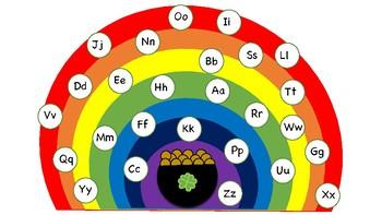 St. Patrick's Alphabet Matching Game
