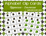 St Patrick's Alphabet Recognition Clip Cards | Uppercase - Lowercase | Matching