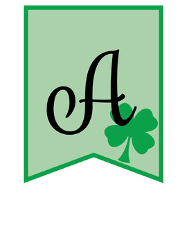 St. Patrick's Banner and Welcome Banner - Green Shamrocks
