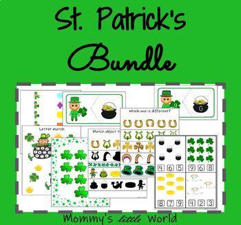 St. Patrick's Bundle - Math and Literacy