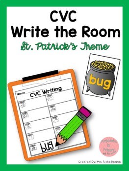 St Patrick's CVC Write the Room