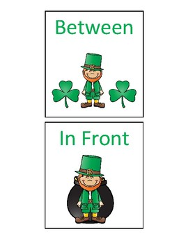 St. Patrick's Cariboo and Spatial Concept Flashcards