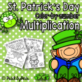 St. Patrick's Color-by-Number Multiplication