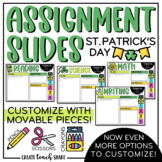St. Patrick's Day Assignment Slides