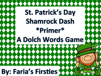 St. Patrick's Dash Primer Dolch Words Dash