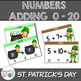 St. Patrick's Day 0 - 20 Count Write and Add BUNDLE