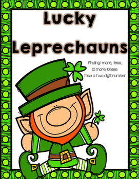 St. Patrick's Day:  1 More, 1 Less, 10 More, 10 Less