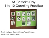 St. Patrick's Day 1 to 10 Counting Practice for Autism and Life Skills Classroom