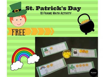 St Patrick's Day 10 Frame Math Activity (WITH DOTS)