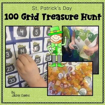 St. Patrick's Day 100 Grid Treasure Hunt
