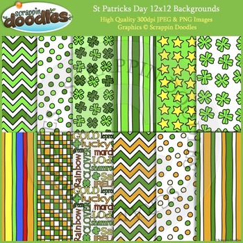 st patrick s day backgrounds by scrappin doodles tpt
