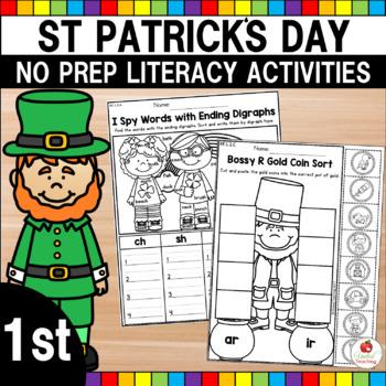 St Patrick's Day 1st Grade No Prep Language Arts Worksheets