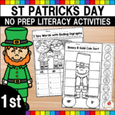 St Patrick's Day Literacy Worksheets (1st Grade)