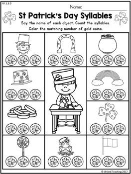 St Patrick's Day Literacy Worksheets (1st Grade)