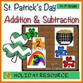 St. Patrick's Day 2 Addend Addition & Subtraction With Ten Frames