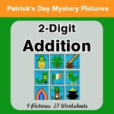 St Patrick's Day: 2-Digit Addition - Color-By-Number Math Mystery Pictures