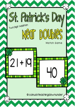 St.Patrick's Day 2 Digit Addition Math Centers Grade 1