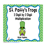 St. Patrick's Day 2 Digit Multiplication Task Cards