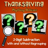 Thanksgiving Subtraction Color By Number 2-Digit With And Without Regrouping