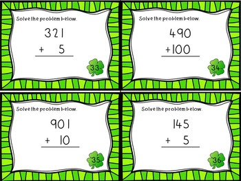 St. Patrick's Day- 2.NBT.2 Task Cards- Skip Counting by 5's, 10's, and 100's