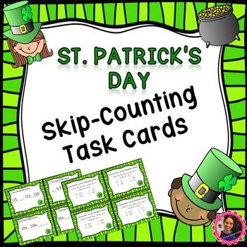 St. Patrick's Day- 2.NBT.2 Math Task Cards