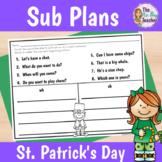 Sub Plans 1st Grade St. Patrick's Day