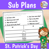 St. Patrick's Day Activities for 1st Grade Sub Plans