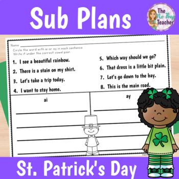 2nd Grade Sub Plans March