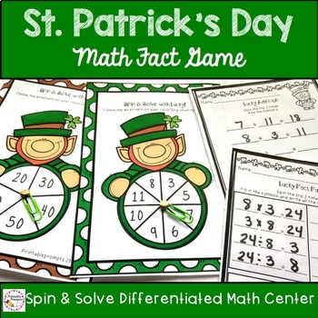 First Grade St. Patrick's Day Activities