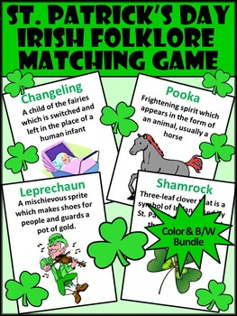 St. Patrick's Day Activities: Irish Folklore Vocabulary Ma