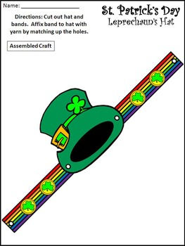 St. Patrick's Day Activities: St. Patrick's Day Headbands Craft Activities