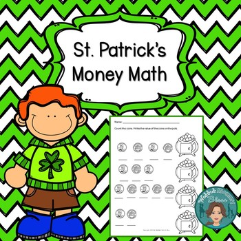 March and St. Patrick's Day Math Practice for First Grade