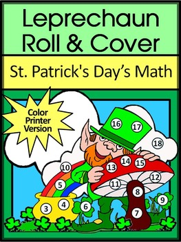 St. Patrick's Day Activities: Leprechaun Roll & Cover Math Activity