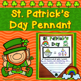 St. Patrick's Day Activities: Summary Pennants - Writing Craftivity